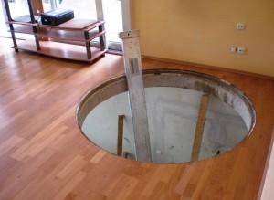Deckenöffnung im Einfamilienhaus