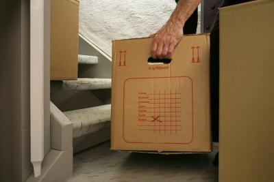 Umzug in ein neues Zuhause; Foto: RainerSturm / pixelio.de