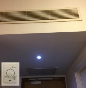 Klimatisierung des Hotelzimmers