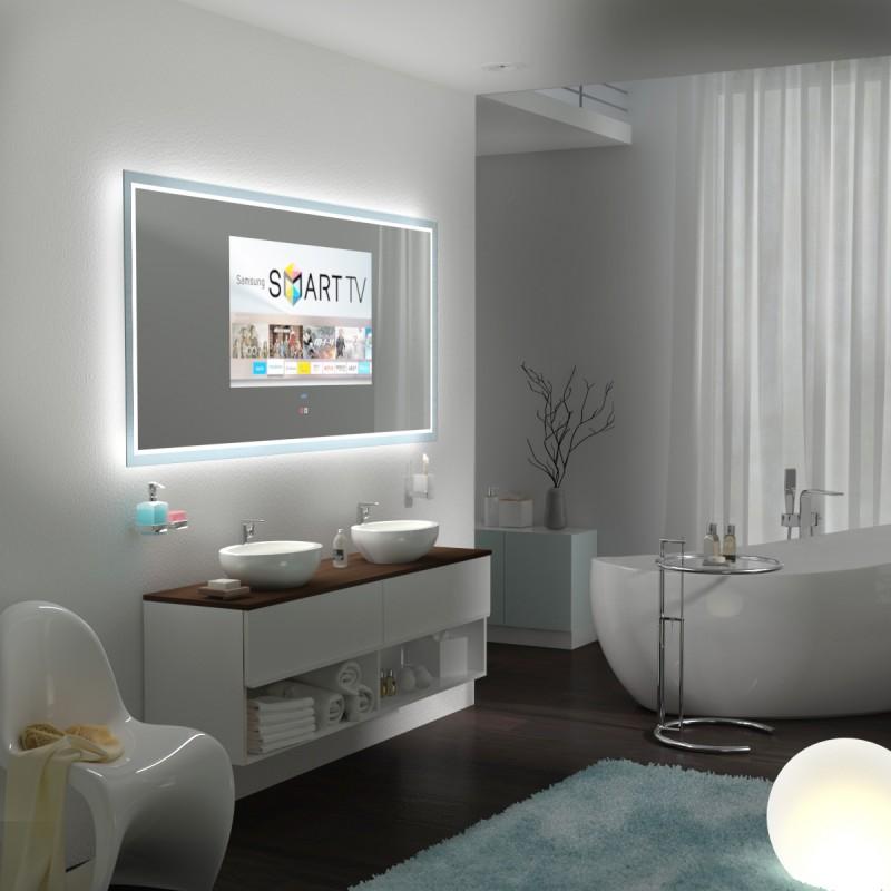 Nie waren so viele technische Raffinessen möglich: Badspeigel mit TV