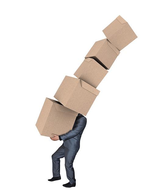 Frühzeitiges Packen von Kisten