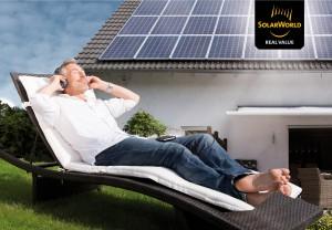 Unabhängig mit einer eigenen Solarstromanlage, Bild. Solarworld