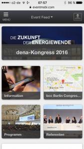 """Die App zum dena-Kongress 2016 """"Die Zukunft der Energiewende"""""""